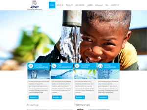 Ecommerce Web Design Websites for Water Purification