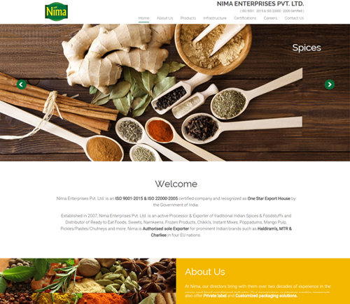 Exporter & Distributor of Indian Spices & Food Industry.