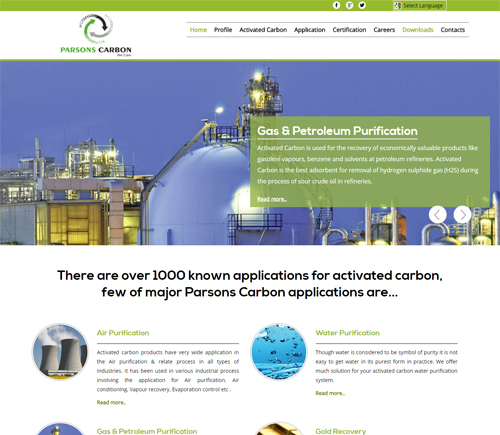 Activated Carbon Website Development Specialist in India